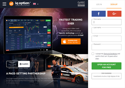 IQ Option screenshot